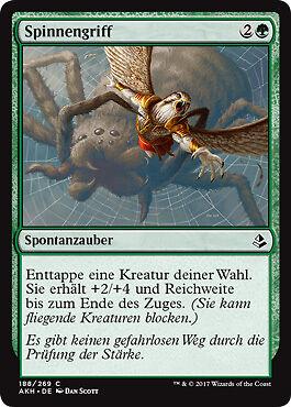 4x Spinnengriff Spidery Grasp Amonkhet Magic
