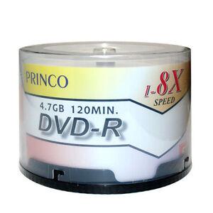 Image Is Loading 50 Pcs Princo DVD R 8X White Top