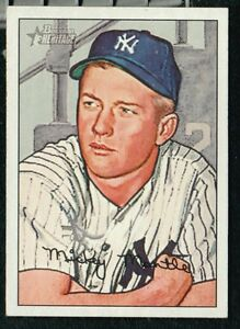 Details About Mickey Mantle 1952 Bowman Heritage Reprint Baseball Card
