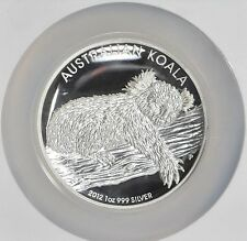 2012 ~999 SILVER~ KOALA ~ HIGH RELIEF ~ 1~OZ ~ NGC~PF~70 ~ ULTRA CAMEO ~ $118.88