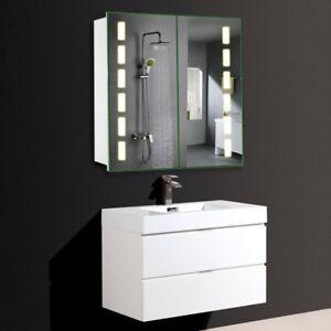 2 mirror door bathroom cabinet led light shaver socket bluetooth image is loading 2 mirror door bathroom cabinet led light shaver aloadofball Gallery