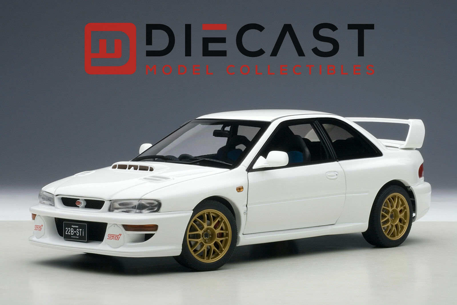 AUTOART 78605 SUBARU IMPREZA 22B, bianca , UPGRADED VERSION L.E. 1500 PCS 1:18TH