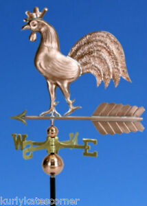 """Copper """"regal Rooster"""" Weathervane Made In Usa #191 Weathervanes & Lightning Rods"""