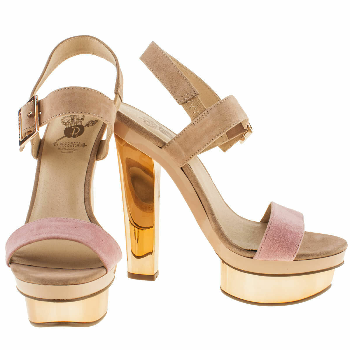 BNIB ROT Or Dead New Day UK Gold Platform Heel Schuhes UK Day 5 e4742a