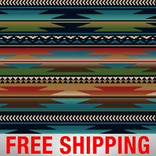 "Native American Fleece Fabric Sunset Stripes 60"" Wide Free Shipping AA 38873-1"