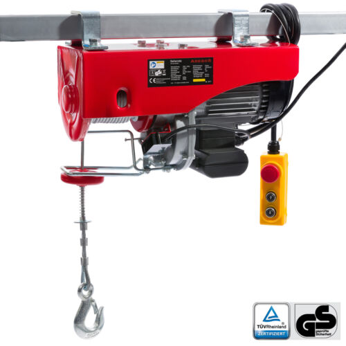 Electric Winch Hoist Lifting Engine Pulley Electric Wire Rope Winch 500//1000 kg