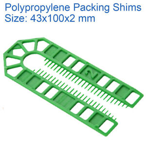 600pcs 75mm Assorted STACKABLE Plastic Window Horseshoe Packers Shims