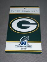 Nfl : Large Green Bay Packers Super Bowl Xlv Nfc Champions Sign -