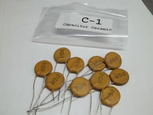 Capacitor Ceramic RMC .02 1 KV 20/% NOS Lot of 10 C1