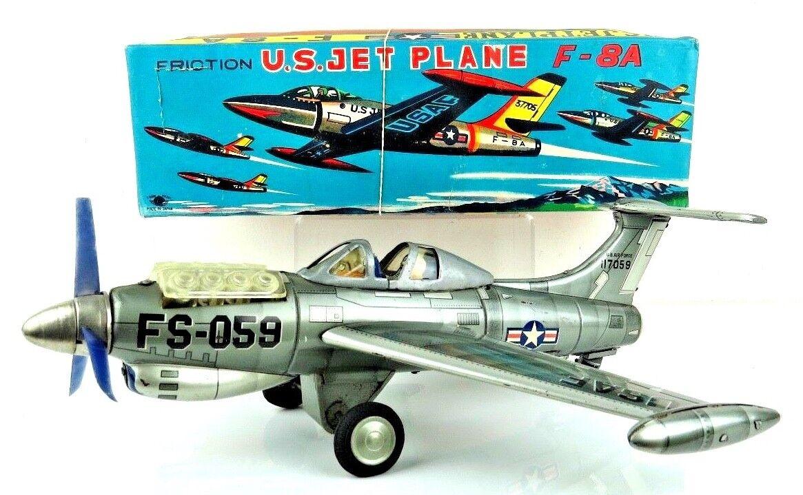 marcas en línea venta barata Vintage en caja Nomura Japan Lata Litografiada grandes USAF USAF USAF FS-059 Batería Fricción En Funcionamiento  contador genuino