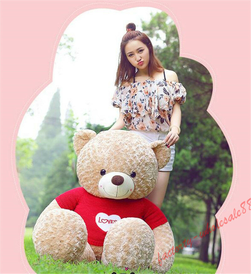 160CM GiantTeddy Bear Plush Toy Sweater Stuffed Doll Pillow Valentine KIDS GiftS