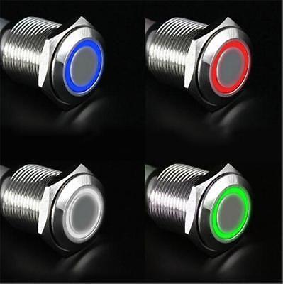 12V 16mm DIY Push Power Button LED  push-buttons Metal FM MF MM Metal AU4 JC
