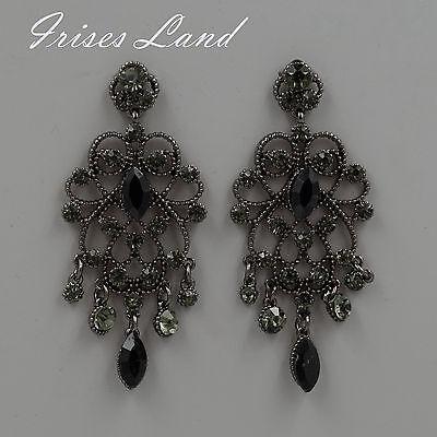 Crystal rhinestone drop earrings