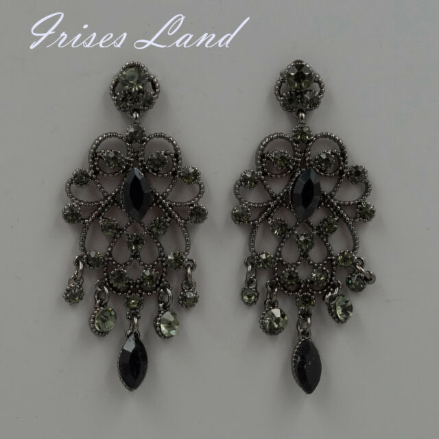 Alloy black crystal rhinestone drop chandelier dangle earrings 06194 new alloy black crystal rhinestone drop chandelier dangle earrings 06194 aloadofball Image collections