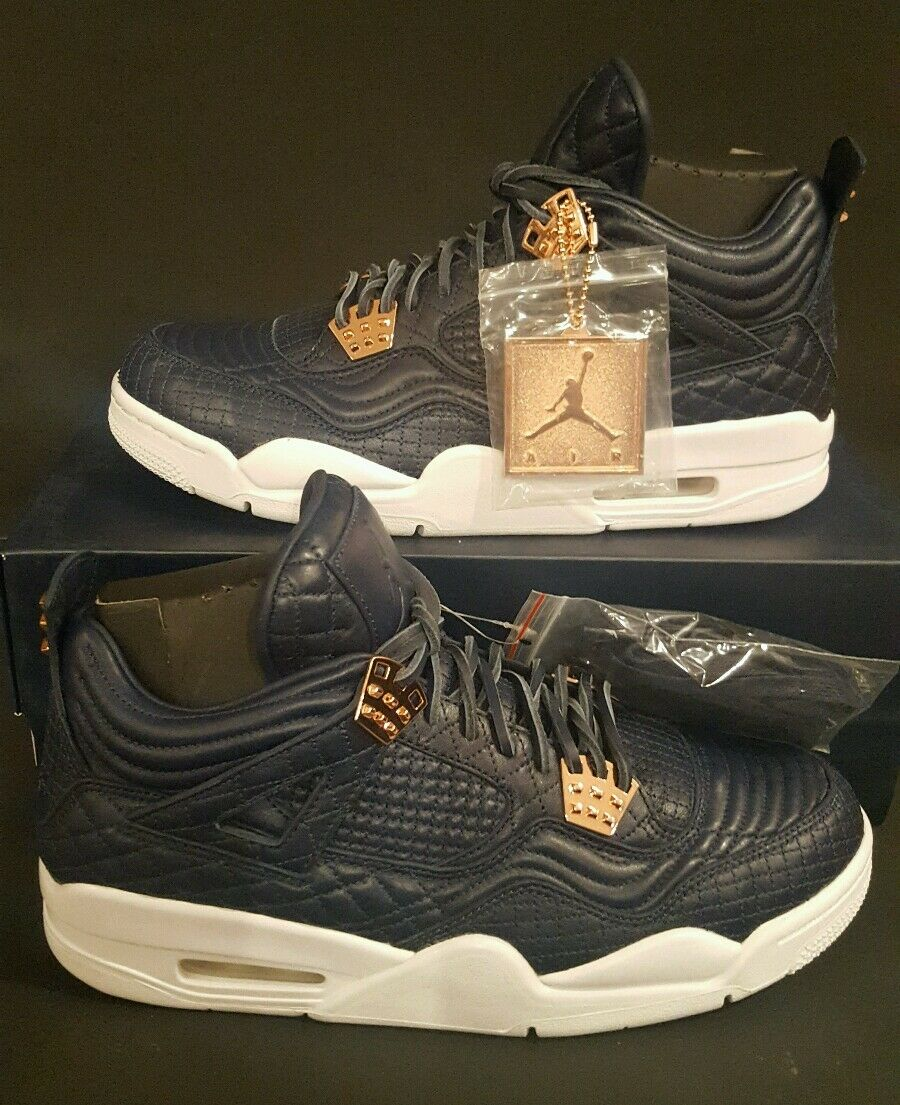 Nike Air Jordan 4 IV Retro PRM Obsidian Pinnacle pink gold 819139-402 Sz 10.5