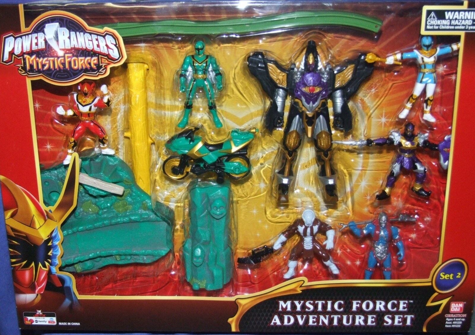 energia energia energia Rangers Mystic Force 6  Wolf re Megazord & Evil Aliens nuovo Factory Seal 260b8a