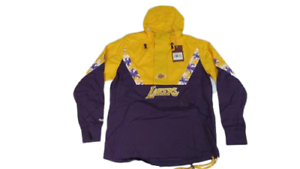 Los Angeles Lakers Mens S-M-L-XL-2XL Mitchell & Ness 1/2 Zip Anorak Jacket