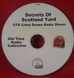 Secrets-Of-Scotland-Yard-Crime-OTR-MP3-CD-57-Old-Time-Radio-Shows-Audio-Book