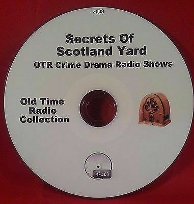 Secrets Of Scotland Yard Crime OTR MP3 CD 57 Old Time Radio Shows Audio Book