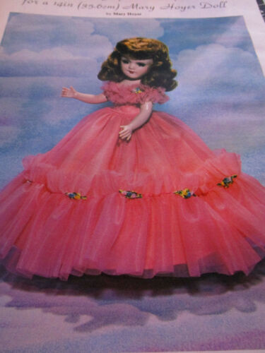 "Vtg 14/""  Mary Hoyer Doll Miss JUPITER Dress Pattern UNCUT"