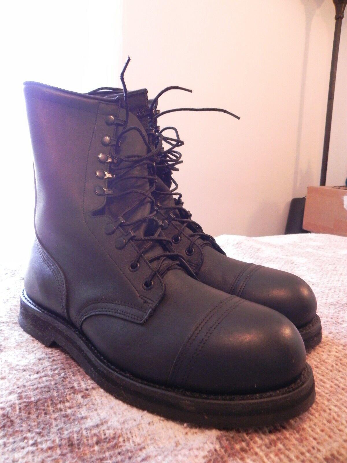 Vibram Addison shoes Company, Men's Military Combat Boots Size 10