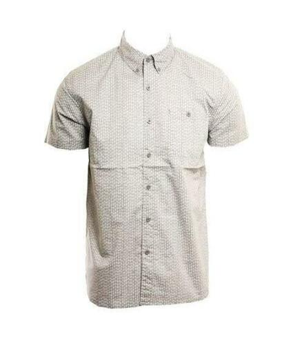 XL NWT LOST Men/'s COUNTERPART S//S Woven Shirt GRY