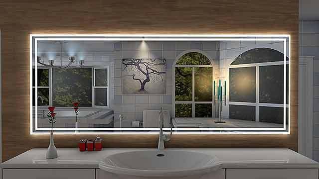 Badspiegel Bricquebec LED Beleuchtung Badezimmerspiegel Bad Spiegel Wandspiegel