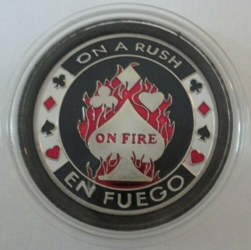 ON A RUSH ON FIRE EN FUEGO Poker Card Guard Protector