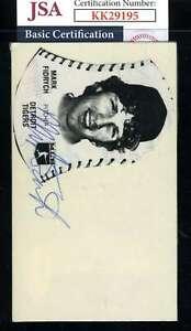 Mark Fidrych JSA Coa Signed 3x5 Index Card Autograph