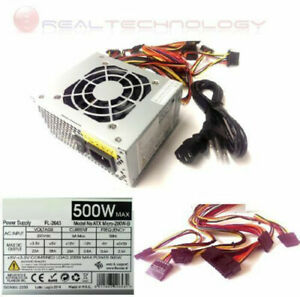 MINI ALIMENTATORE MICRO ATX 500 WATT PER PC 2IDE 2SATA 4PIN CPU 24 PIN TR-20787