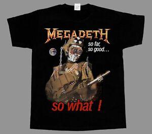 MEGADETH-SO-FAR-SO-GOOD-SO-WHAT-039-88-NEW-BLACK-SHORT-LONG-SLEEVE-T-SHIRT