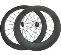 60mm+88mm Clincher Road Bike Carbon Wheels Cycling Ultra Light Bicycle Wheelset