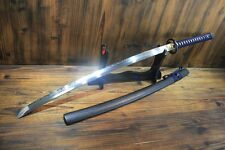 Japanese T10 Clay Tempered Kirakira  Musashi Katana Samurai Sword Full Tang