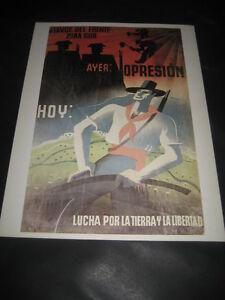 Reproduction-Affiche-Guerre-Civile-Espanola-Ayer-Opresion-Hui-Terre-amp-Liberte