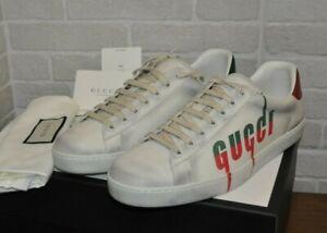 Authentic New Men's Gucci White Leather