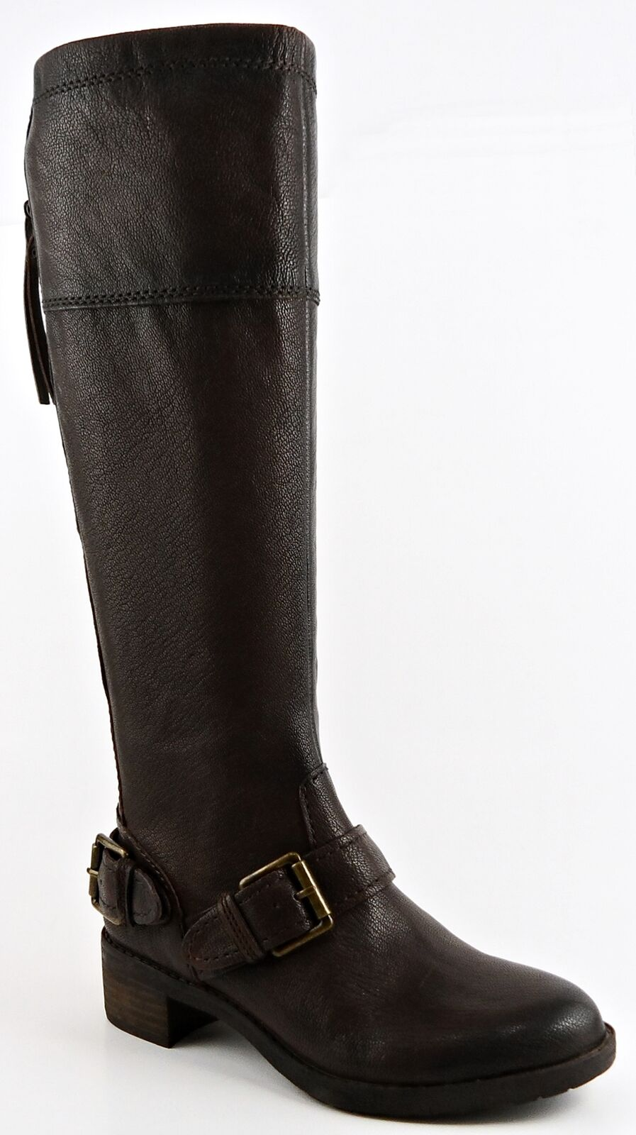 NATURALIZER MACNAIR Brown Leather Designer Boots Knee High Boots Boots Boots 4.0 M 049aac