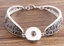 hot handmade DIY nosa lether bracelet fit chunk snap button j3523