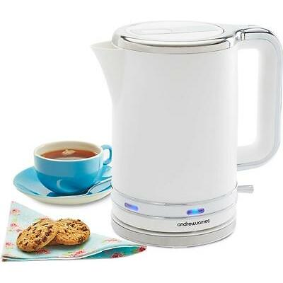 Andrew James Stylish White Electric Cordless Jug Kettle 3000W Fast Boil 1.7L