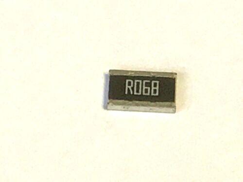 0,068r 1w 0,068 Ohm 5/% 50 pezzi 68 Mohm 1218,smd rl1218fk-070r068l resistenza