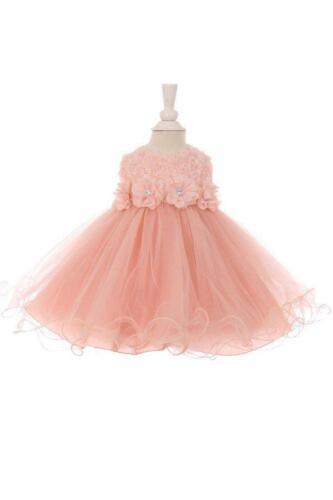 Style #SP2056 Baby Girl Flower-Adorned Tulle Skirt Dress