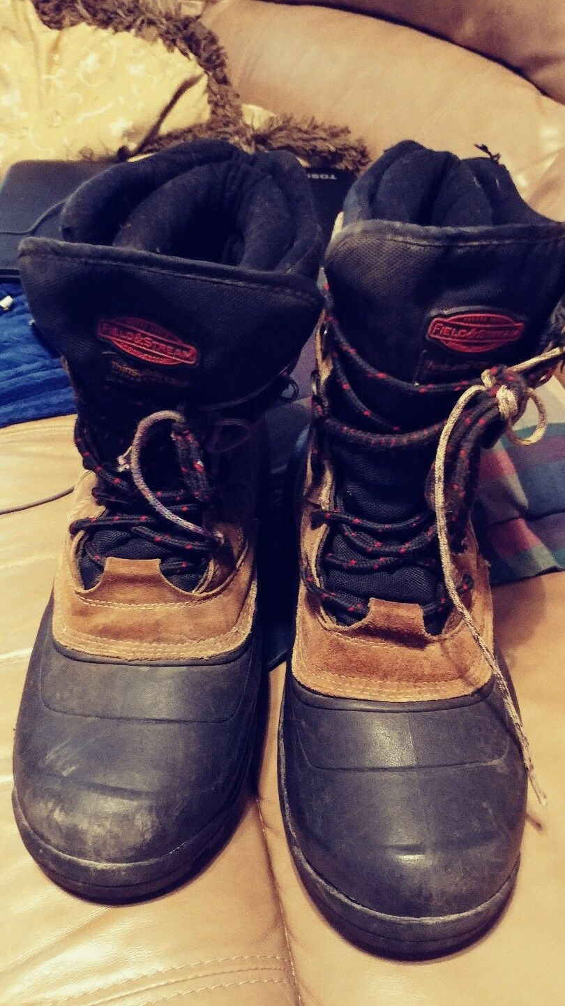 Stiefel Waterproof ice Insulated  Field & Stream Mens 12 Leather Upper