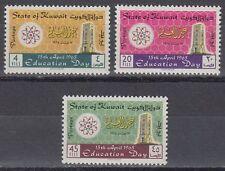 Kuwait 1965 ** Mi.277/79 Bildung Erziehung Atom Wabe Education