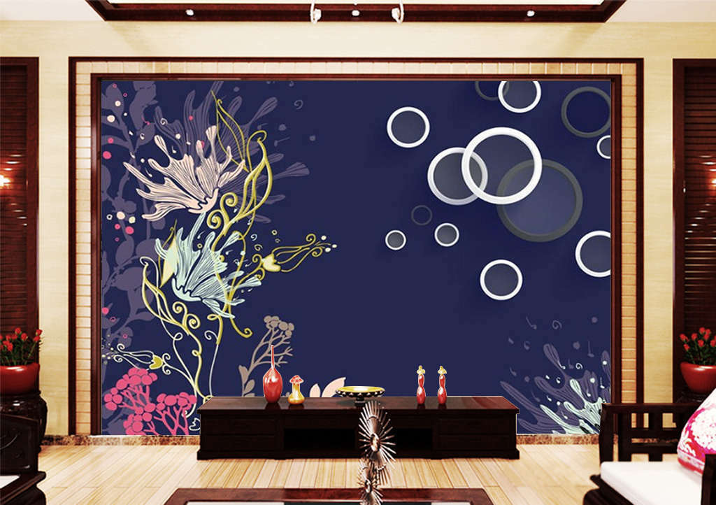 The Deep Sea Grass 3D Full Wall Mural Photo Wallpaper Printing Home Kids Decor