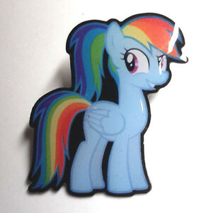 my little pony rainbow dash 1 5 tall metal pin free s h dmpi