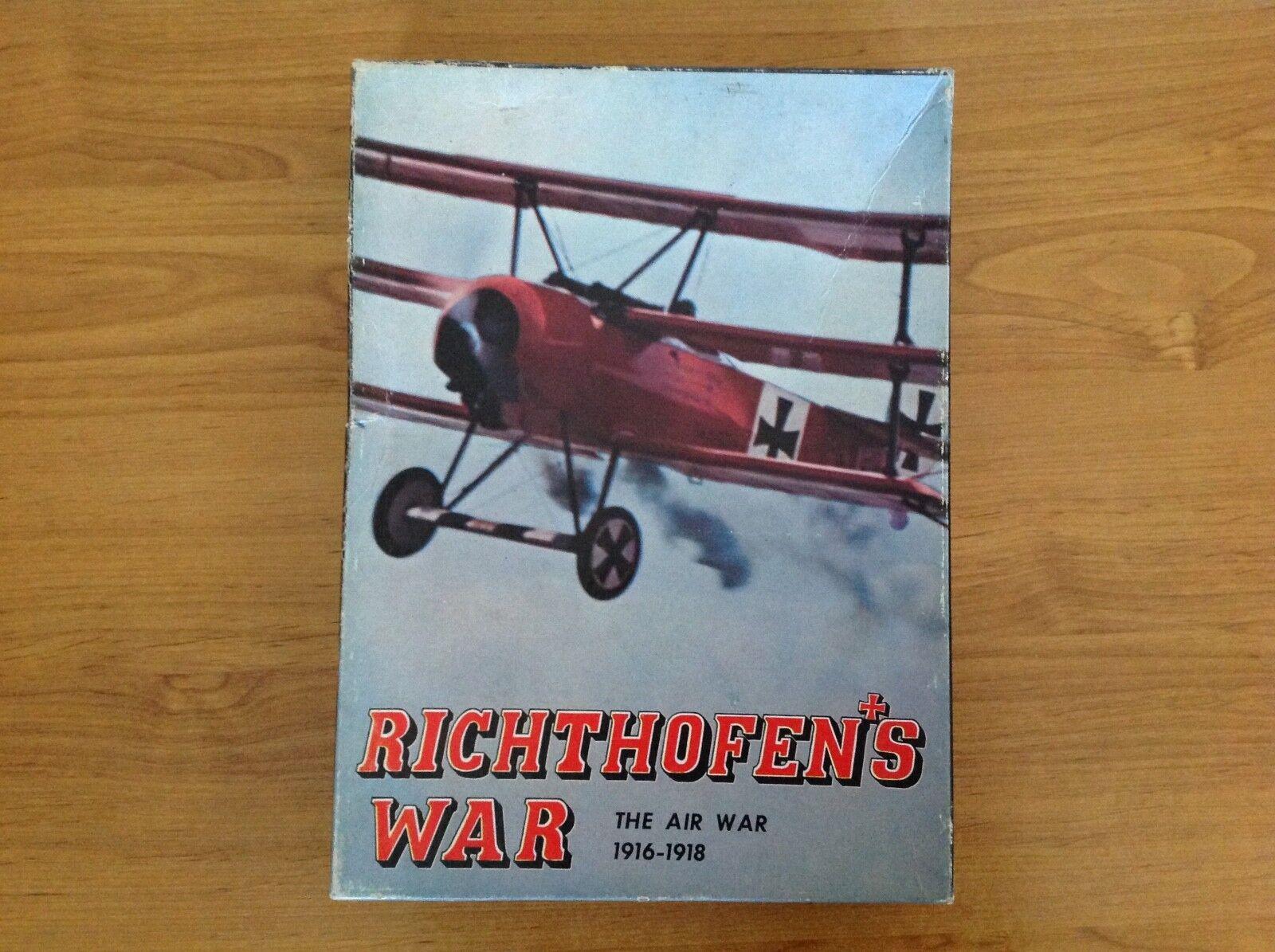 Die luft richthofens krieg krieg 1916-1918 brettspiel avalon hill spiel firma 1972