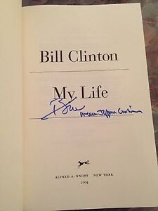 WILLIAM-JEFFERSON-CLINTON-BILL-SIGNED-AUTOGRAPH-034-MY-LIFE-034-FIRST-EDITION-BOOK-1-1