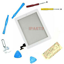 Front Touch Screen Glass Digitizer+ Home Button Assembly for iPad 2 White +Tools