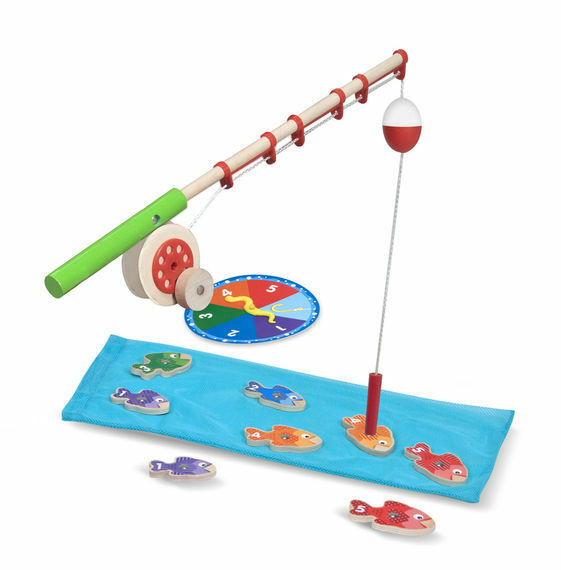 Melissa and Doug Catch & Count Magnetic Fishing Rod Set - 15149 - NEW