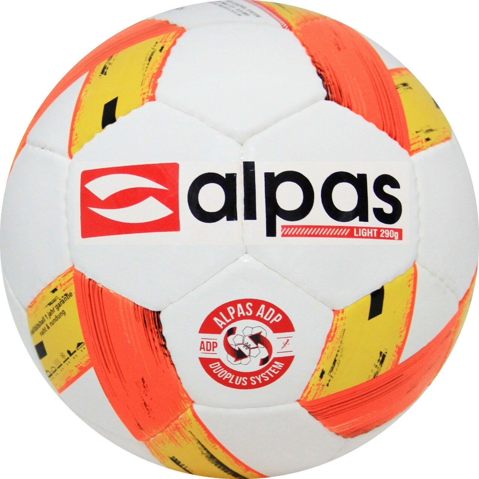5 X Ballons Football Alpas Balle D'Entraînement G - Jeunes Leichtball Clair 290