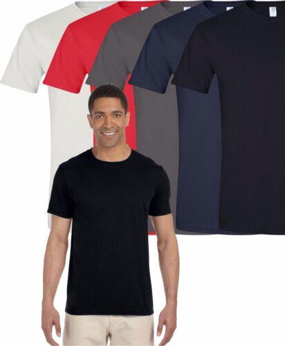 Gildan T-Shirt Tee Men/'s Short Sleeve Soft Style Ringspun Solid G640